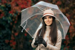 Clear Umbrellas: Staying Stylish Under the Rain and Sun